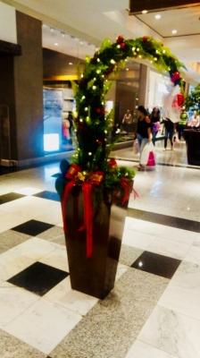 Decoração natal corredor shopping