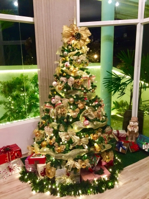 Arvore de Natal Dourada