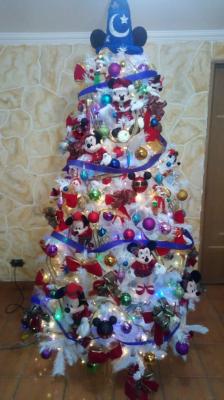 Arvore de natal Mickey branca
