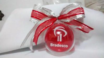 Bola de natal personalizada - Aluguel decoração de natal