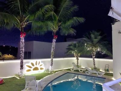 Decoração de natal piscina- Aluguel decoração de natal