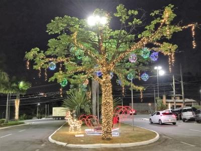 Decoração de natal arvore iluminada- Aluguel decoração de natal