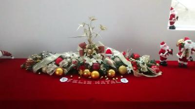 Enfeite natalino de mesa - Aluguel decoração de natal