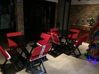 Decoração de natal cadeiras - Aluguel decoração de natal