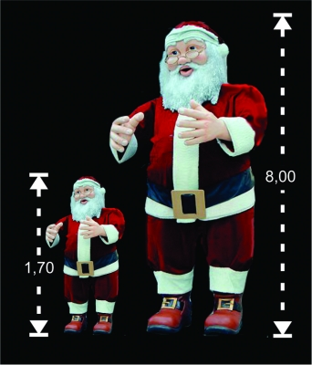 Papai noel gigante - Aluguel decoração de natal